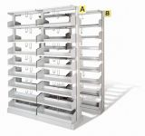 Metal Open Book Storage Racks
