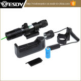 Tactical Long-Distance Hunting Green DOT Laser Sight Flashlight for Rifle