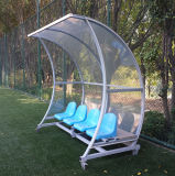 Curved Frame Cheap Plastic Soccer Shelter/ Substitute Bench