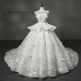 Lovemay Women Ladies Long Big Cap Lace Wedding Gown Dress