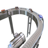 Plastic Turn Flat Belt Conveyors for Food, Drinks Tranportation