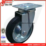 6 Inch Industrial Black Rubber Swivel Castor