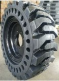 New 23X8.5-12 Skid Steer Tire, 14-17.5 Solid Bobcat Tires with Wheel