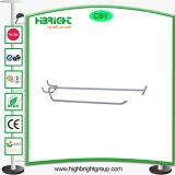 Metal Double Wire Pegboard Hook with Price Strip