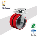 Drop Forged Steel Caster, PU on Cast Iron Core Caster Wheel