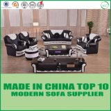 French Modern Home Furniture Tufted Chesterfield Leather Sofa Set