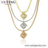 Imitation Sterling Silver Gold Plated Jewelry with Necklace