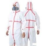 Disposable Yellow Hazmat Suit, Protective Chemical Plastic Coverall Suit