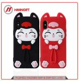 Mobile Shell Apple iPhone X Cat Silicone Drop Protection Cover