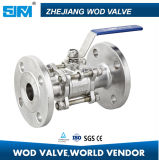 3PC Strainless Steel Flanged Ball Valve