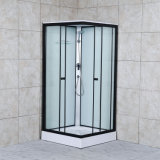 High Quality Simple Quadrant Double Sliding Square Integral Shower Enclosure with Tray