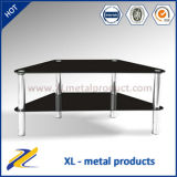 China Manufacturer Glass and Metal Cheap TV Stand