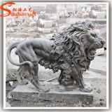 Outdoor Large Animal Sculptures White Marble Stone Lion Sculpture