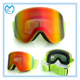 Flat PC Lens Ski Mask Sports Goggles with Nose Guard