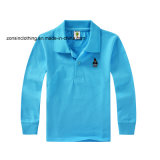 Children Pure Color Long Sleeve Polo T-Shirt