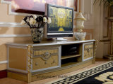 0016 Golden Color Classical Luxury Living Room Coffee Table, Sofa