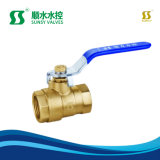 Ss2010 Bsp NPT Thread Long Lever Batterfly Handle Brass Ball Valve