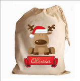 Cotton Drawstring Christmas Gift Bag with for Christmas
