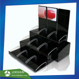 3 Tiers Nail Polish Acrylic Display Rack with Dividers, Wholesale Acrylic Make up Display Stand Supplier China