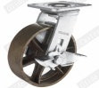Heavy Duty Iron Caster Wheel with Side Brake (G4501)