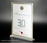 A4 Clear Acrylic Table Photo Display Frame with Base