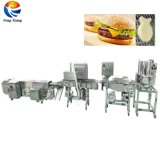 Industrial Patty Hamburger Burger Former Breading Coating Cooking Machine