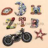 Patch Crystal Drill Hand Sewing Moon Motorcycle Badges Jewelry Accessories