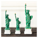 Carving Figure Statue of Liberty Sculpture Outdoor Angel Art & Collectible Folk Art Green