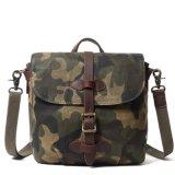 Custom Leather Camouflage Waterproof Canvas Mens Shoulder Laptop Messenger Bag (RS-Fx-888022