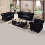 UK Classical Design Velvet Fabric Chesterfield Home Furniture Lounge Sofa