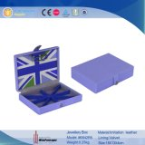 New Styles Leather Multi Cell Blue Jewelry Packaging Storage Box (6842R5)