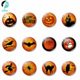 Halloween Series Magnetic Glass Fridge Magnet