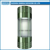 Hitachi Mr Gearless Sightseeing Glass Lift Observation Elevator with Ard