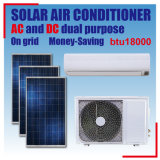 AC&DC Cooling/Heating Wall-Mounted Split Solar Air Conditioner 18000BTU