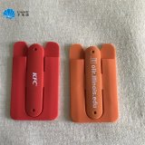 Soft PVC Silicone Card Holder Sticky Mobile Phone Card Holder