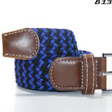 B13 Best Price Woven Fringe Braided Elastic Stretch Belt for Man and Woman