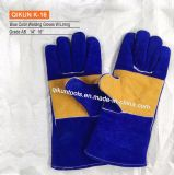 K-16 Double Color Cow Leather Welding Gloves