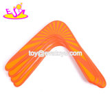 Handmade Outdoor Sports Flying Aero Discs Wooden Boomerang Toy for Kids and Adults W01A313