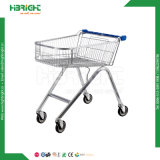 Supermarket Metal Shopping Trolley with Locking Casters
