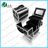 Aluminum Cosmetic Makeup Train Case Beauty Box (HX-C002)