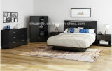 Black Two Door with 1 Spacious Drawer Bedroom Storage Cabinet