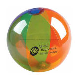 Transparent PVC Inflatable Beach Ball with Customized Logo