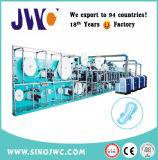 Full Servo Disposal Sanitary Pad Making Production Line with Auto Bagger Jwc-Kbd-Sv