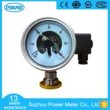 4′′100mm Electric Contact Sanitary Diaphragm Pressure Gauge with Flange