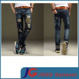 2015 Ss Printing Ripped & Knee Patch Men Fashion Trousers (JC3330)