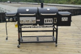 New Design Charcoal and Gas BBQ Grill Combo