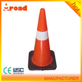 70cm PVC Traffic Cone with Black Base