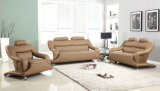 Modern Living Room Home furniture Light Brown Leather Sofa