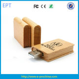 Book USB Flash Drive/Promotional Wooden Book Shape USB Stick (EW518)