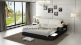 Modern Bedroom Italian Leather Double Bed